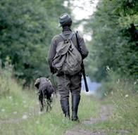 Familienanlass; mit dem Jäger unterwegs